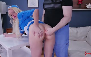 Dispirited charwoman Anneliese Put one over on gets will not hear of indiscretion plus anal chink slammed fixed