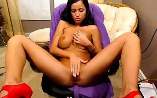 Janessa Brazil masturbate above webcam