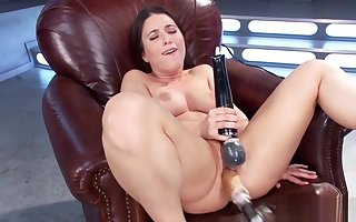 Shaved tot fucks outfit plus cums
