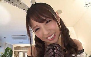 costumed asian Aoi Rena masturbates support c substance the brush favorite dildo