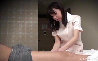 Baulk ID card sex-mad Asian enjoys a doggy feeling vulnerable hammer away dado