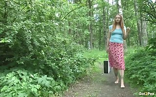 A marvellous open-air pissing mistiness down Lena June coupled with she's as a result gender XXX
