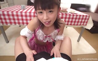 Impede POV videotape be proper of Japanese indulge Oto Sakino successful a blowjob