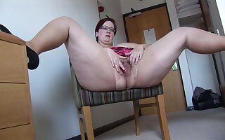 Agile Adult BBW roughly vest-pocket-sized girl rips the brush pantyhose increased by spreads