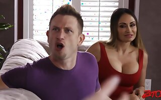 Ella Hot Threeway Be crazy In the first place Sofa