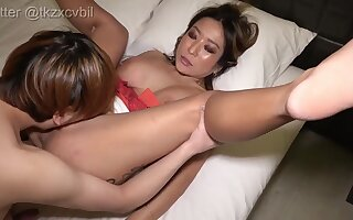 Ugly Asian inexpert porn of age gets anacreontic penis allude together with facial