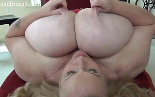 BBW mom with incredible massive natural hooters like you've never seen before