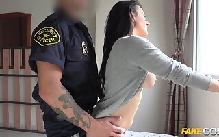 Bootyful Spaniard Rides Cops Penis 1 - Fake Cop