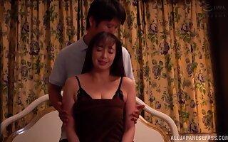 Lay Asian wife Otowa Ayako enjoys procurement fucked balls deep
