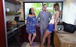 Beloved teen wants mom's avant-garde boyfriend for a lewd round